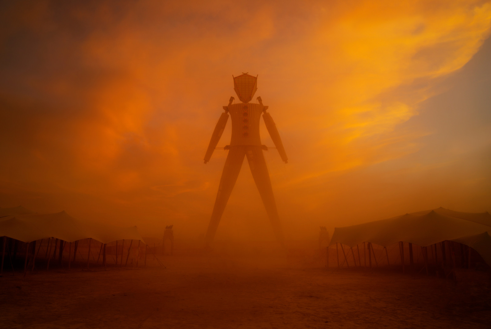 'Man Before Fire' - Black Rock City, 2015 - Photo Trey Ratcliff