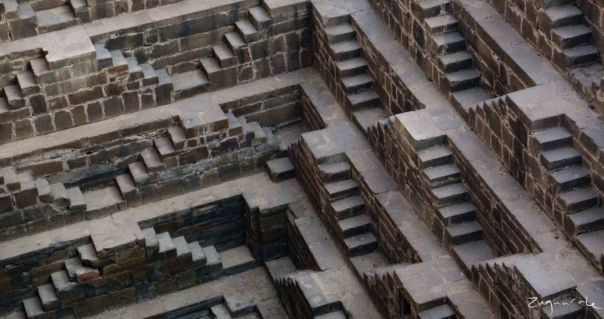 Chand Baori between Jaipur and Agra