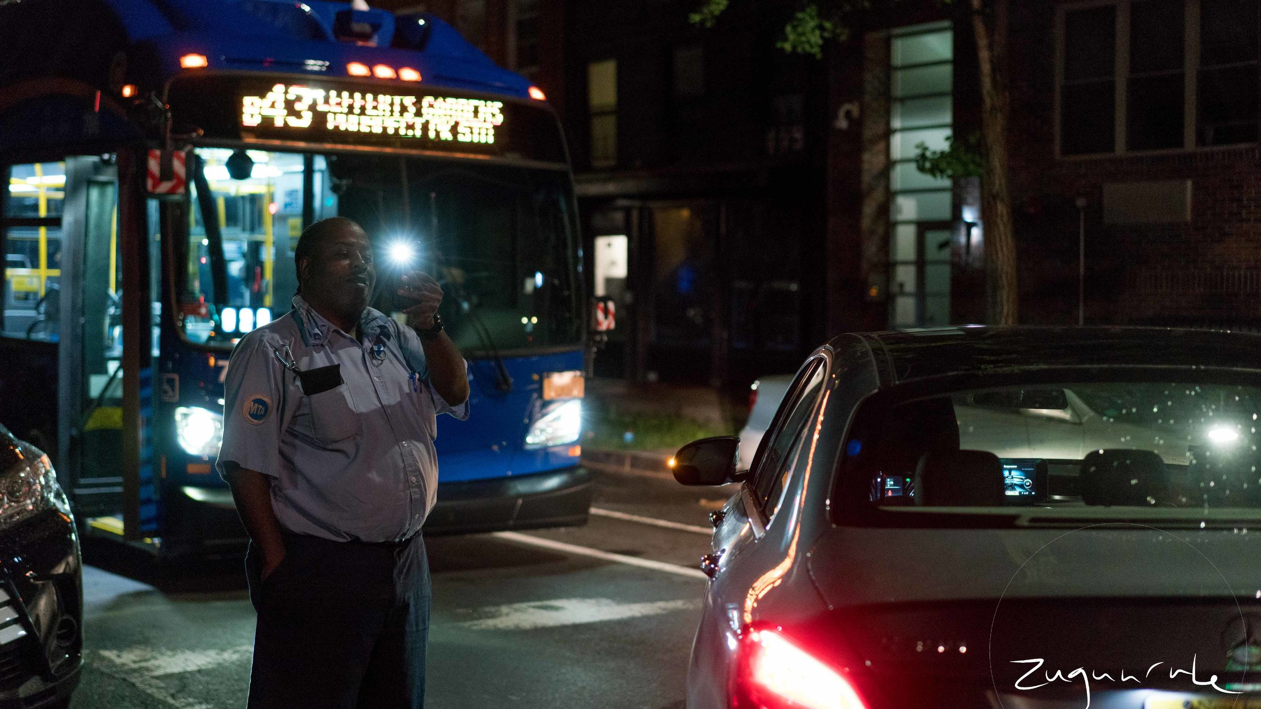 MTA employee stuck after a stolen car is left in a crosswalk, Bed-Stuy