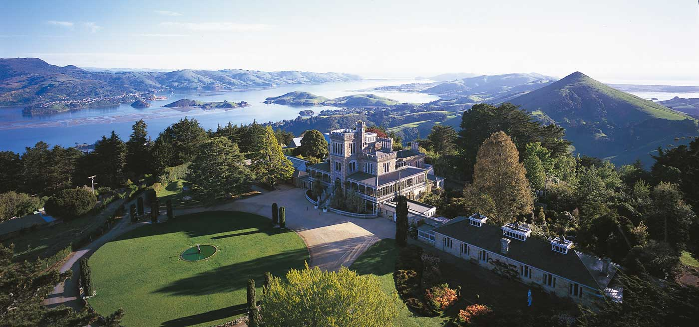 Visit New Zealand's only castle and take in some stunning peninsula views