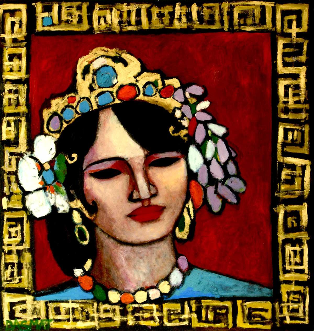 Princess  - 190cm x 180cm, Oil on Canvas