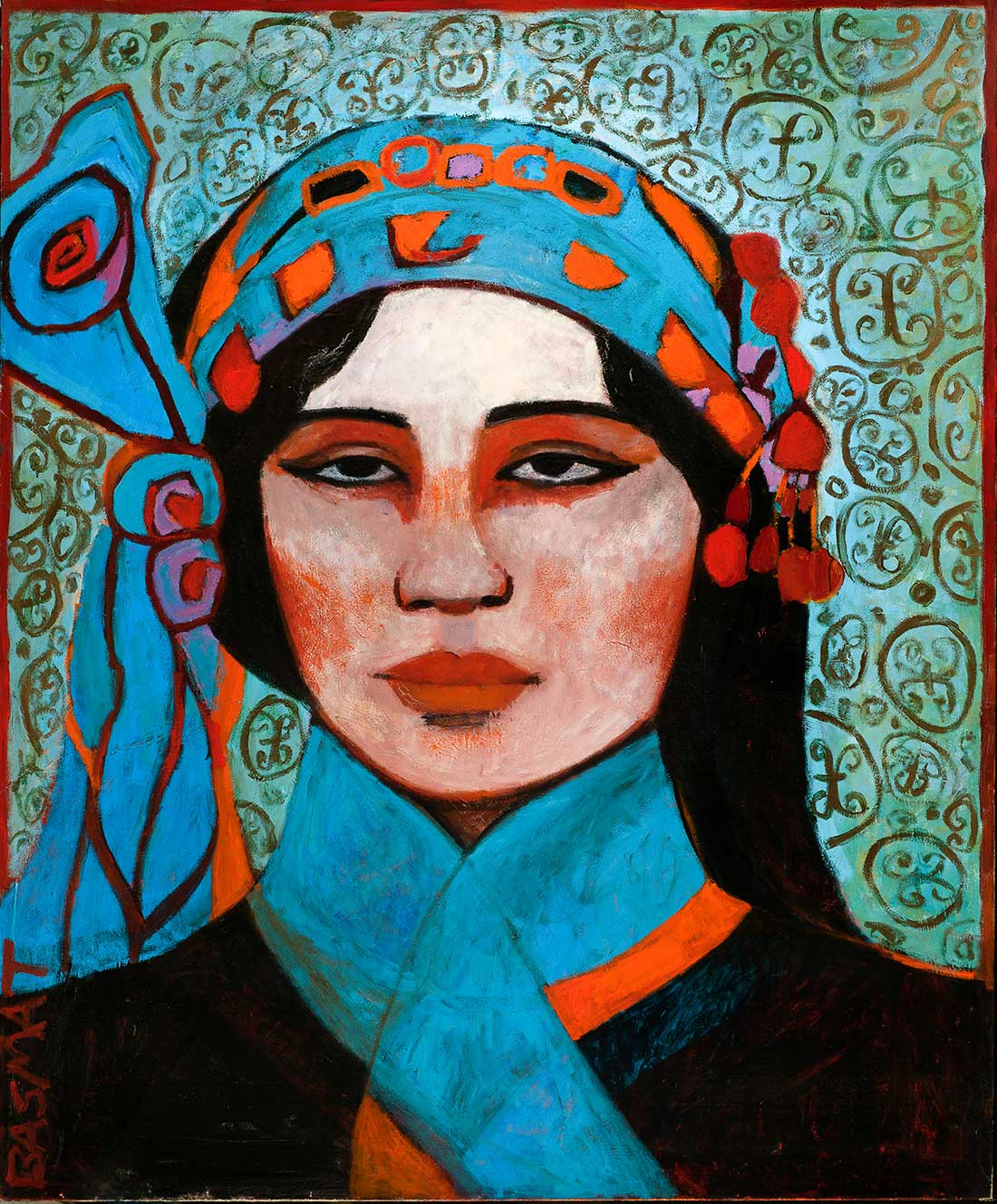 Local Woman - 203cm x 168cm, Oil on Canvas