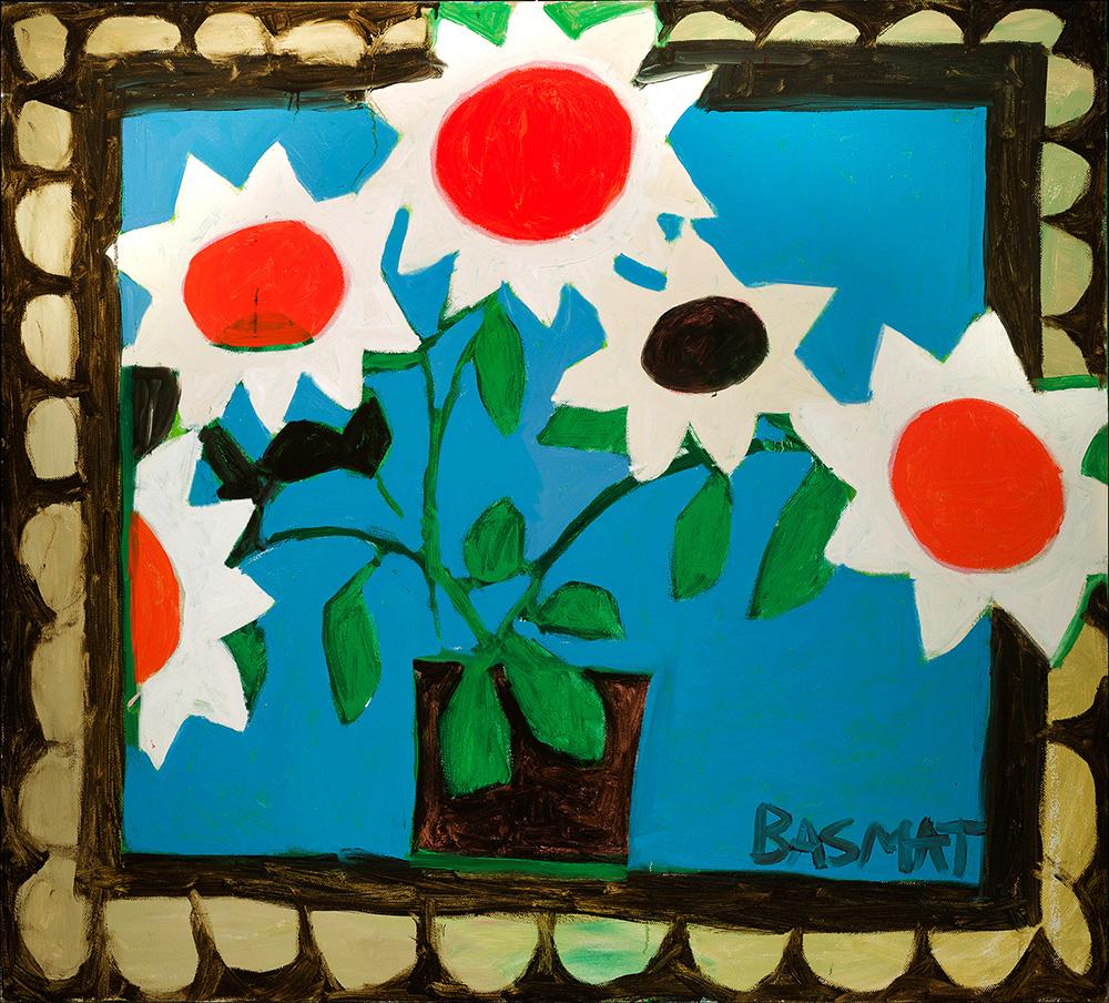 Happy Flowers   -  160cm x 150cm,Oil on Canvas