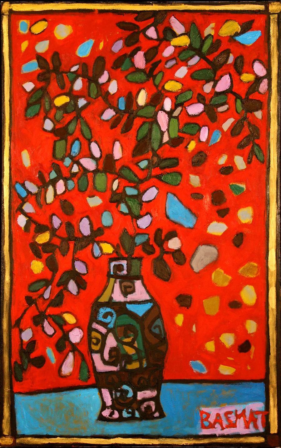 Tzili's Flowers   -  178cm x 112cm,Oil on Canvas