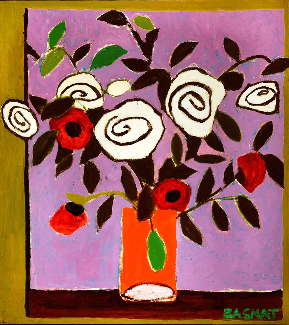 Flowers #4   -  230cm x 174cm,Oil on Canvas