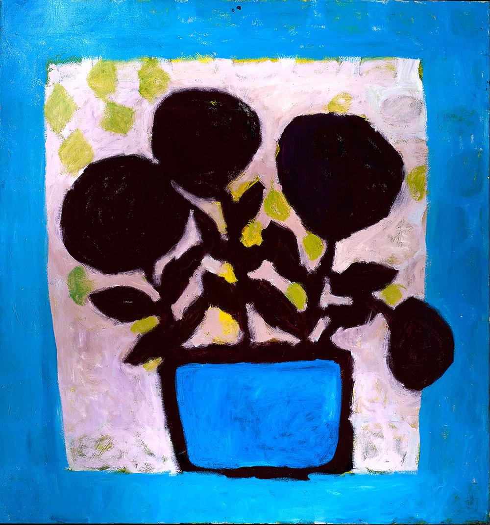 Flowers #5   -  160cm x 150cm,Oil on Canvas