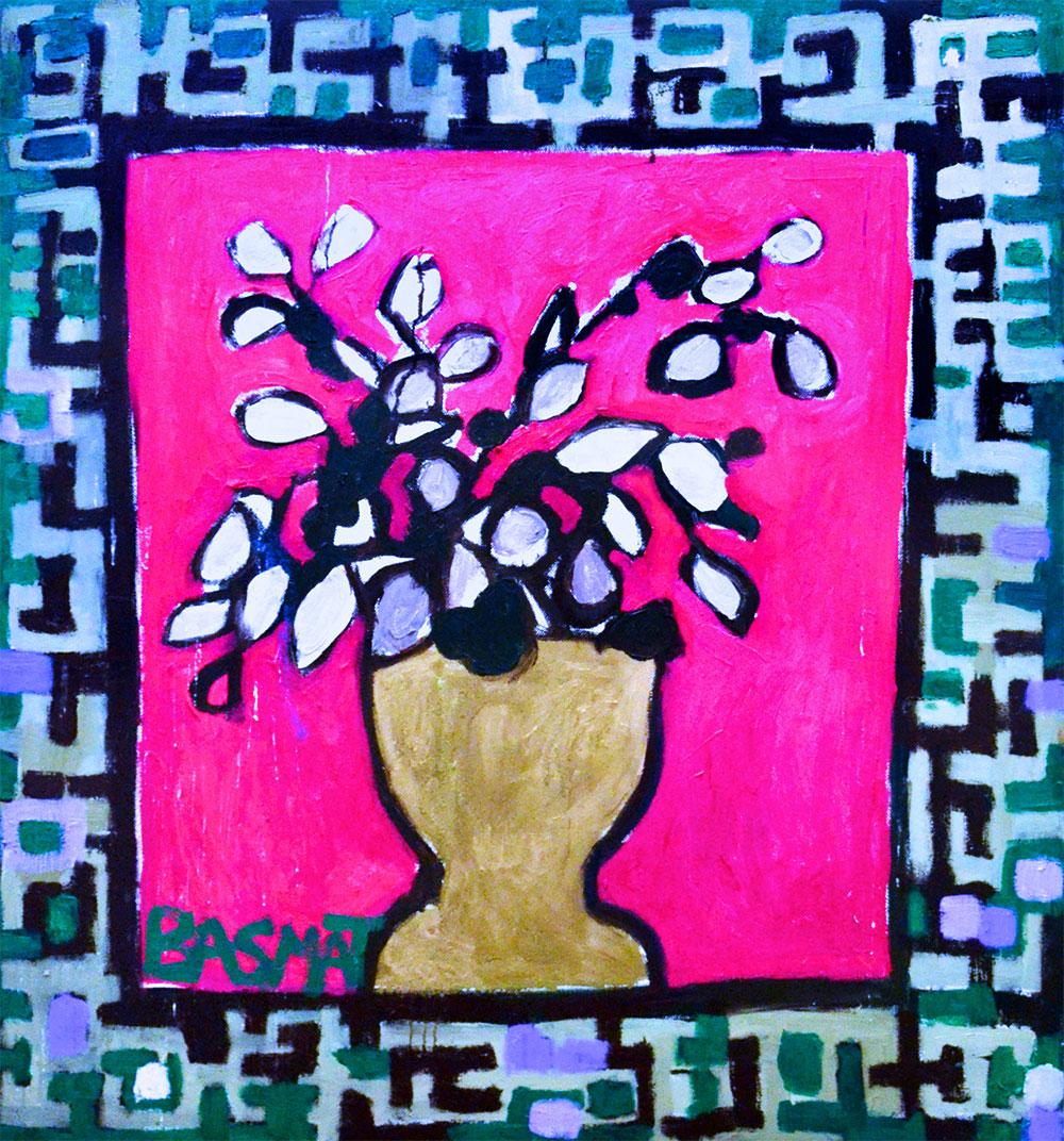 Flowers #16   -  140cm x 130cm,Oil on Canvas