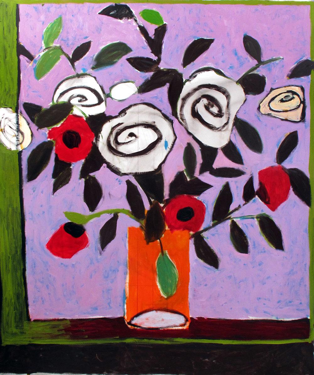 Flowers #14   -  230cm x 174cm,Oil on Canvas