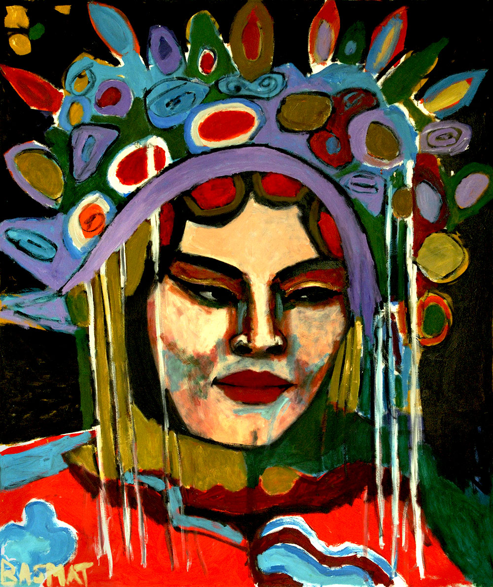 Beijing Opera 4  - 155cm x 185cm, Oil on Canvas