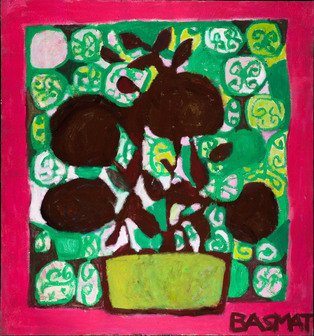 Shadow Flowers   -  140cm x 150cm,Oil on Canvas