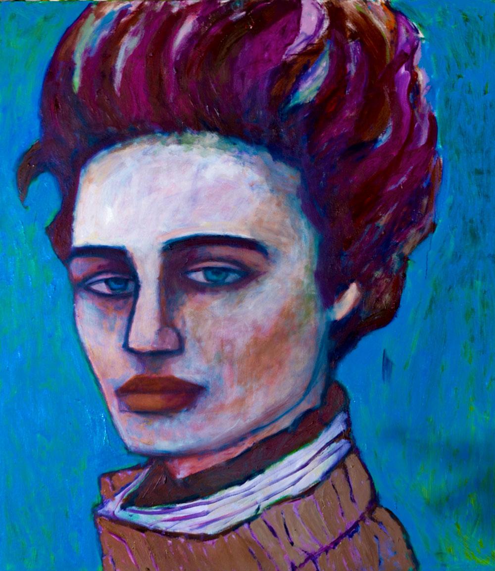 Blue Eyes   -  150cm x 160cm,Oil on Canvas