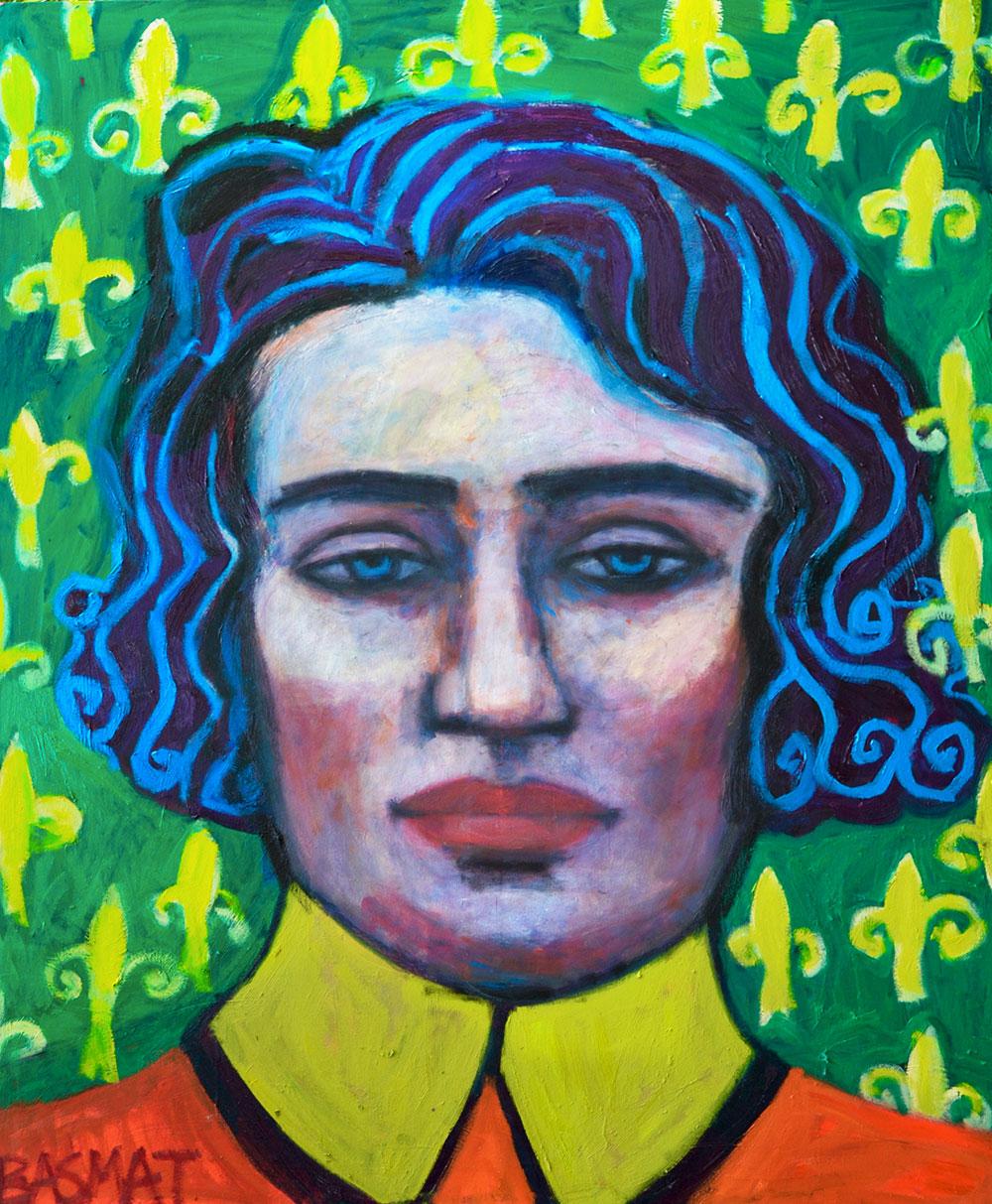 The Prince with the Blue Hair   -  140cm x 150cm,Oil on Canvas