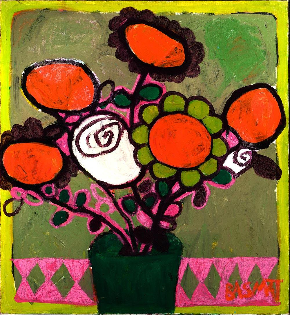 Moon Flowers   -  130cm x 120cm,Oil on Canvas