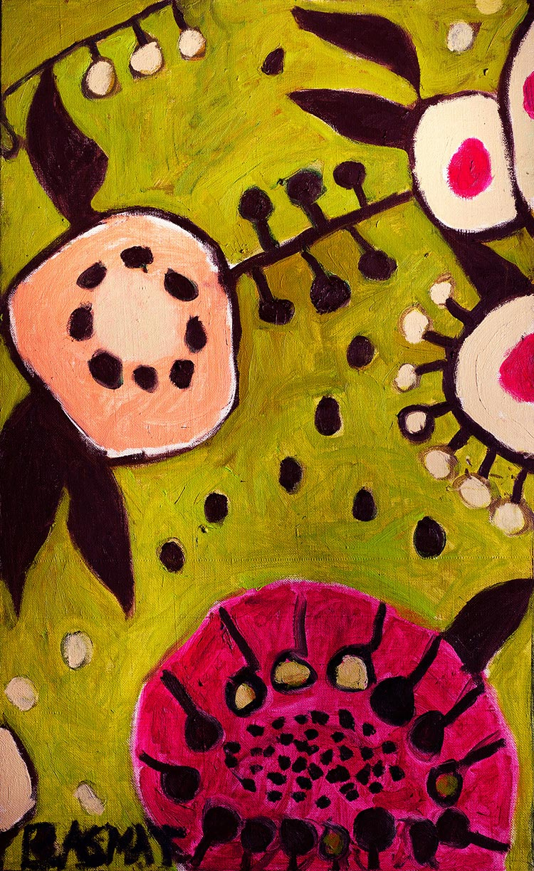 Flowers #20   -  130cm x 80cm,Oil on Canvas