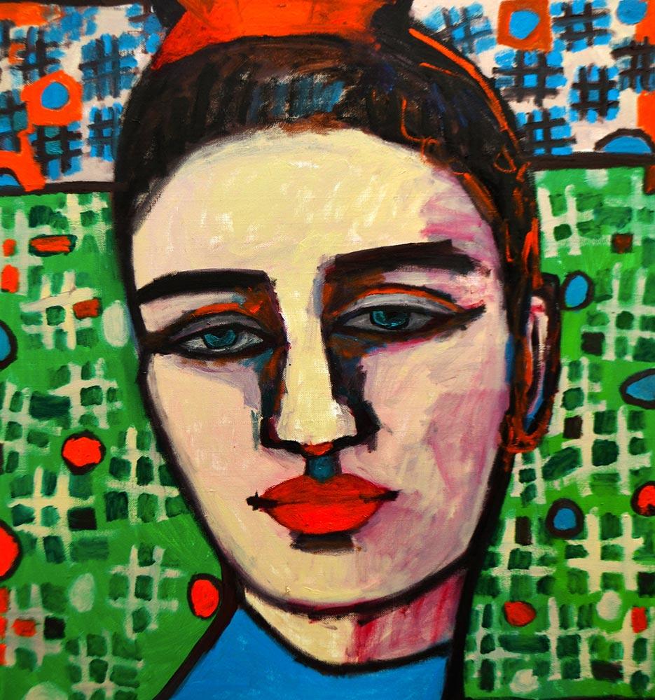 Nina   -  110cm x 95cm,Oil on Canvas