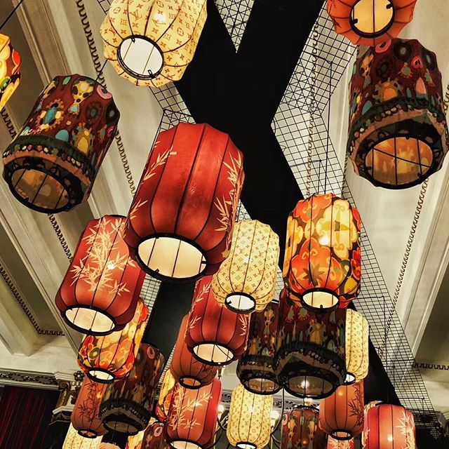 My lanterns at Shangahi Louise Vitton party . Design by  Emma Boulet-Lin