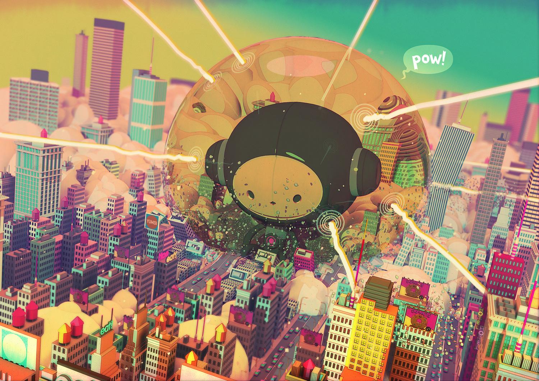 Atomic boy - illustration and animation