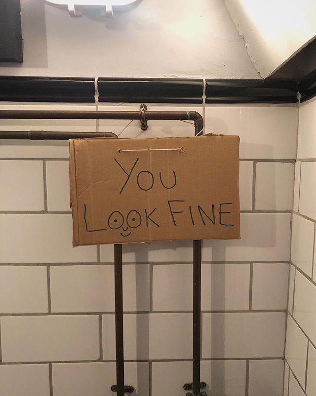 Quick mirror check...
