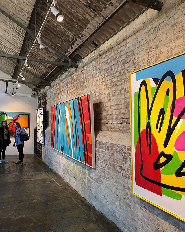 @maserart's 'Taxonomy' preview this evening. Want. It. All. 🎨🍷 . w/ @chris_read @jbrotherhood