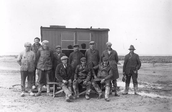 Polderwerkers omstreeks 1944.