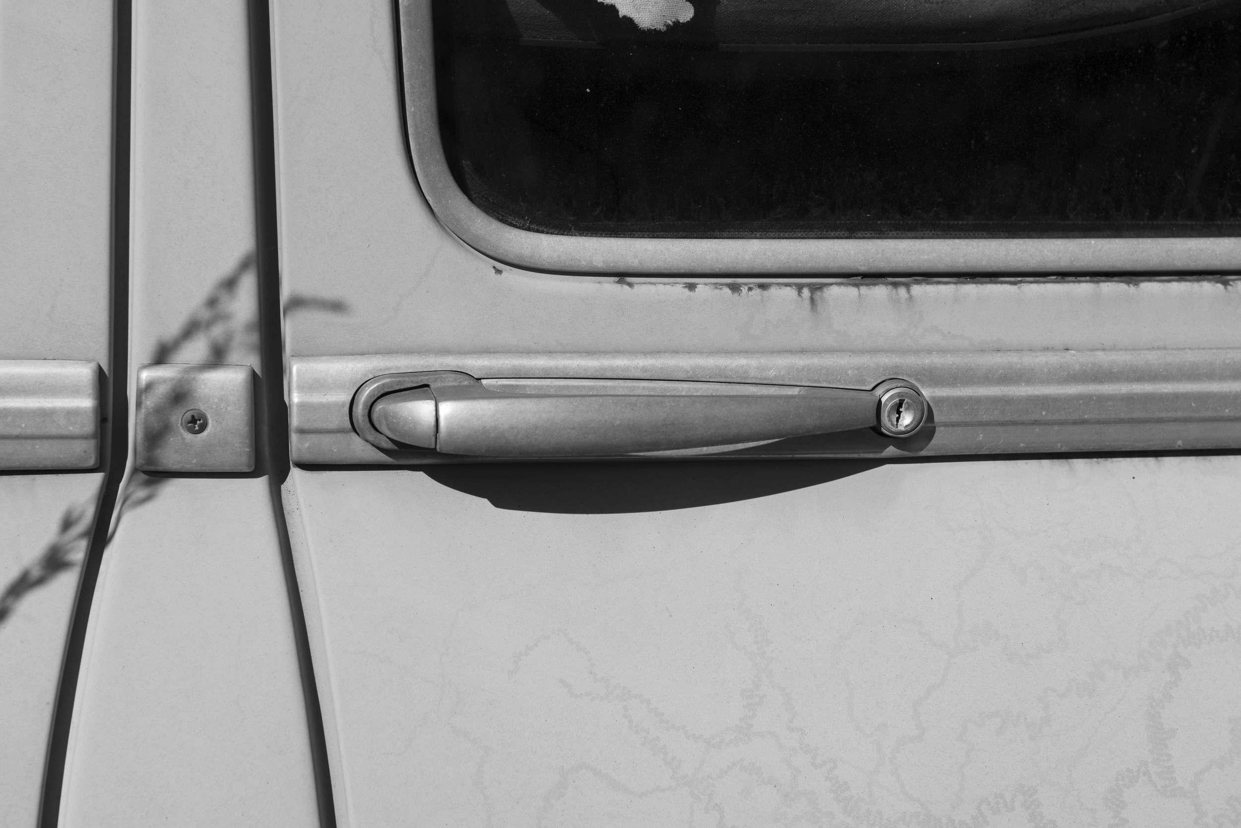 Panhard   -  abandoned   -  detail  -  door handle