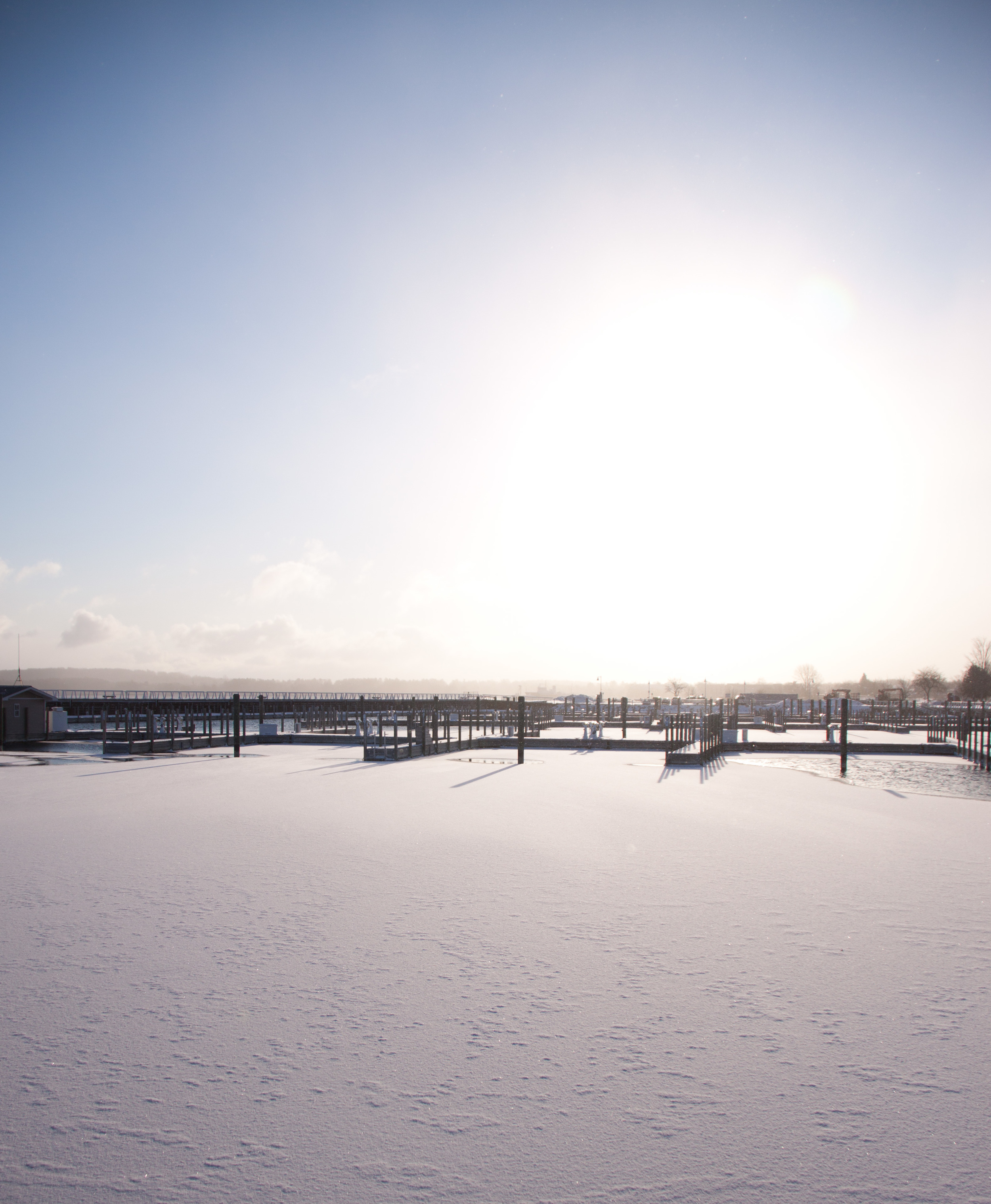 snow in the harbor