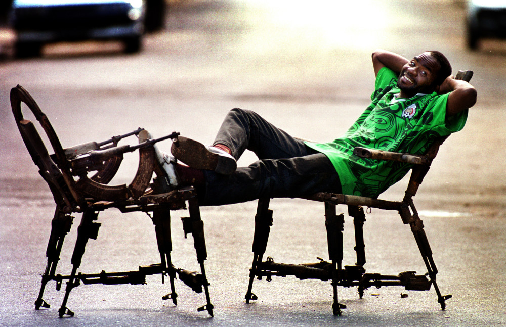 Kester shows his chairs in the Mozambican capital, Maputo. All photos: (c) Paul Hackett / Christian Aid