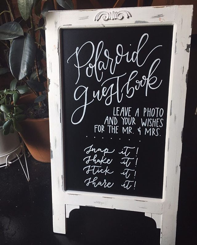 One of my favorite signs to date, loved the classic black and white details for this October wedding! How in the world is it already November??