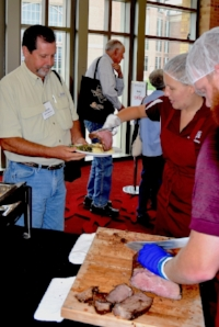 The prime rib dinner at the Texas A&M Beef Cattle Short Course is a featured activity. (Texas A&M AgriLife Extension Service photo by Blair Fannin)