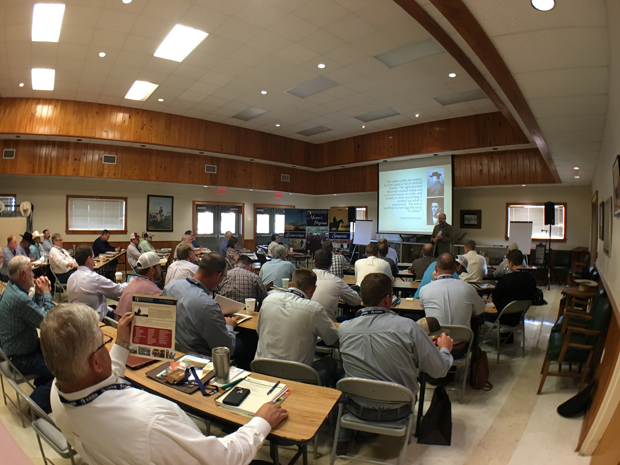 Attendees at the 2018 Application of Advanced Genetic Technology in Beef Cattle Lectureship in Florida.