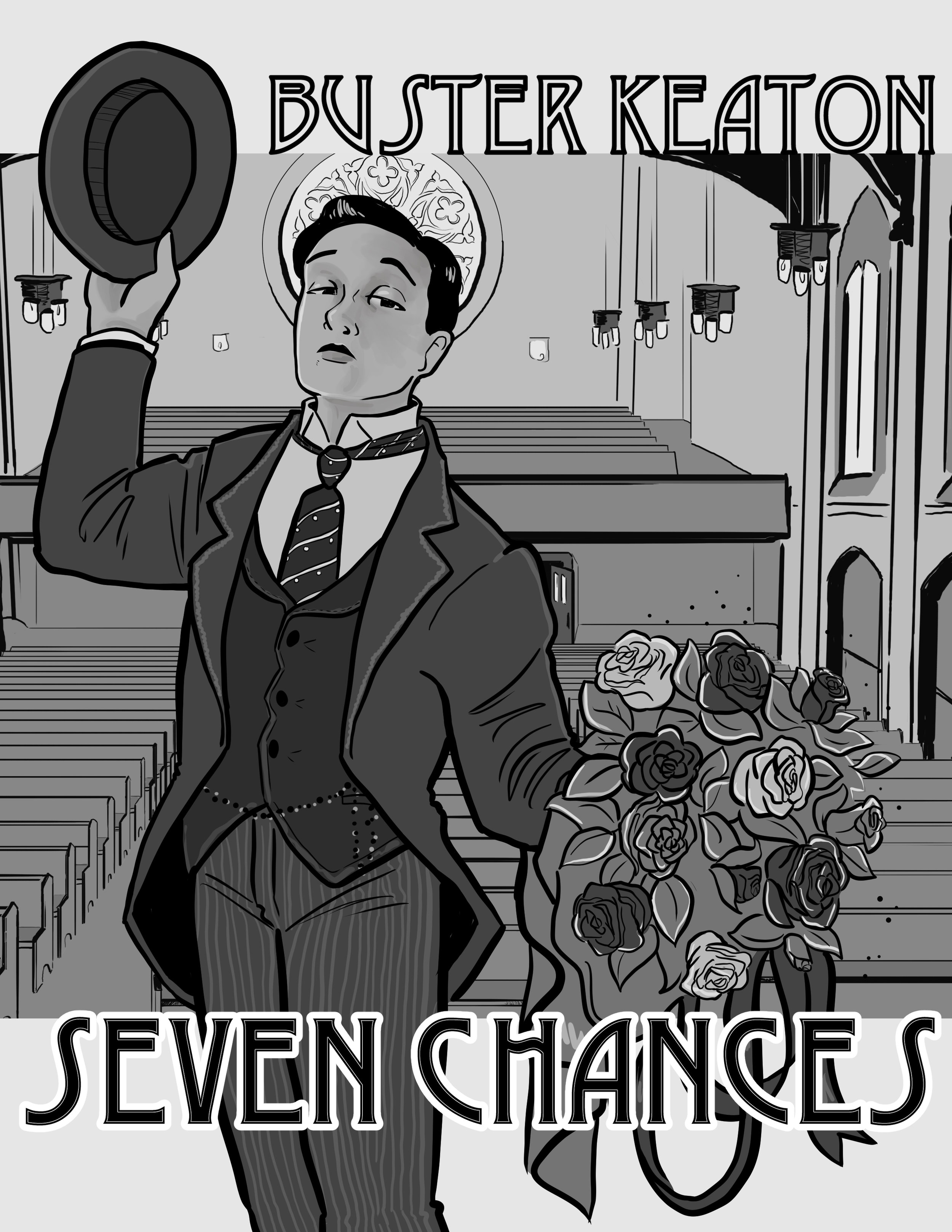 Buster Keaton in Seven Chances