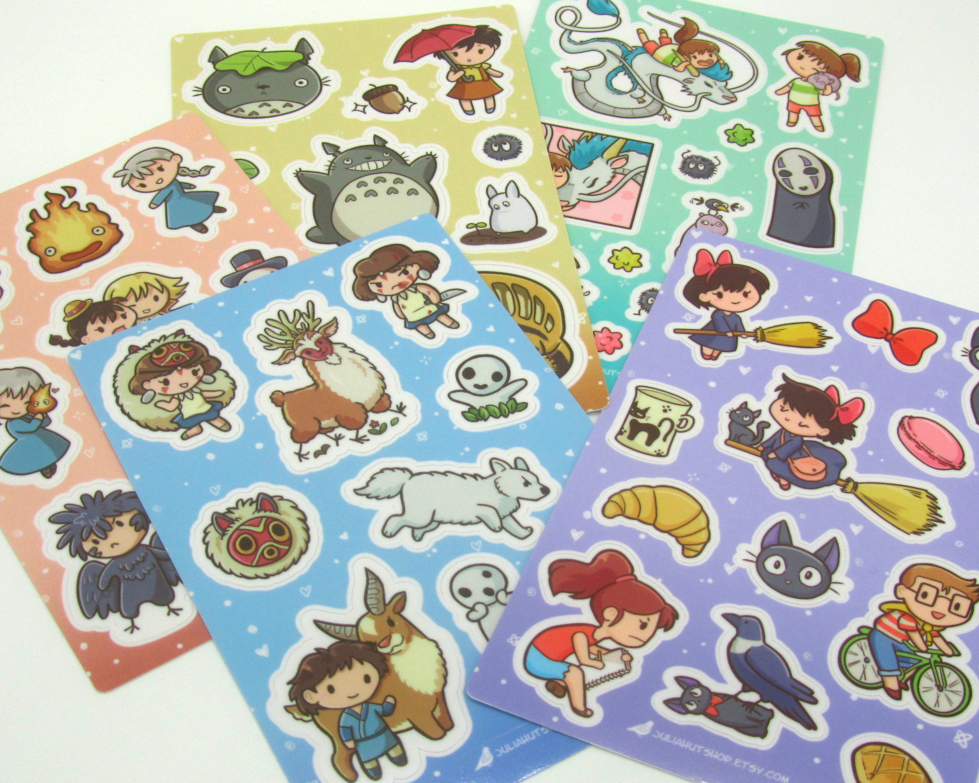 Studio Ghibli inspired stickers