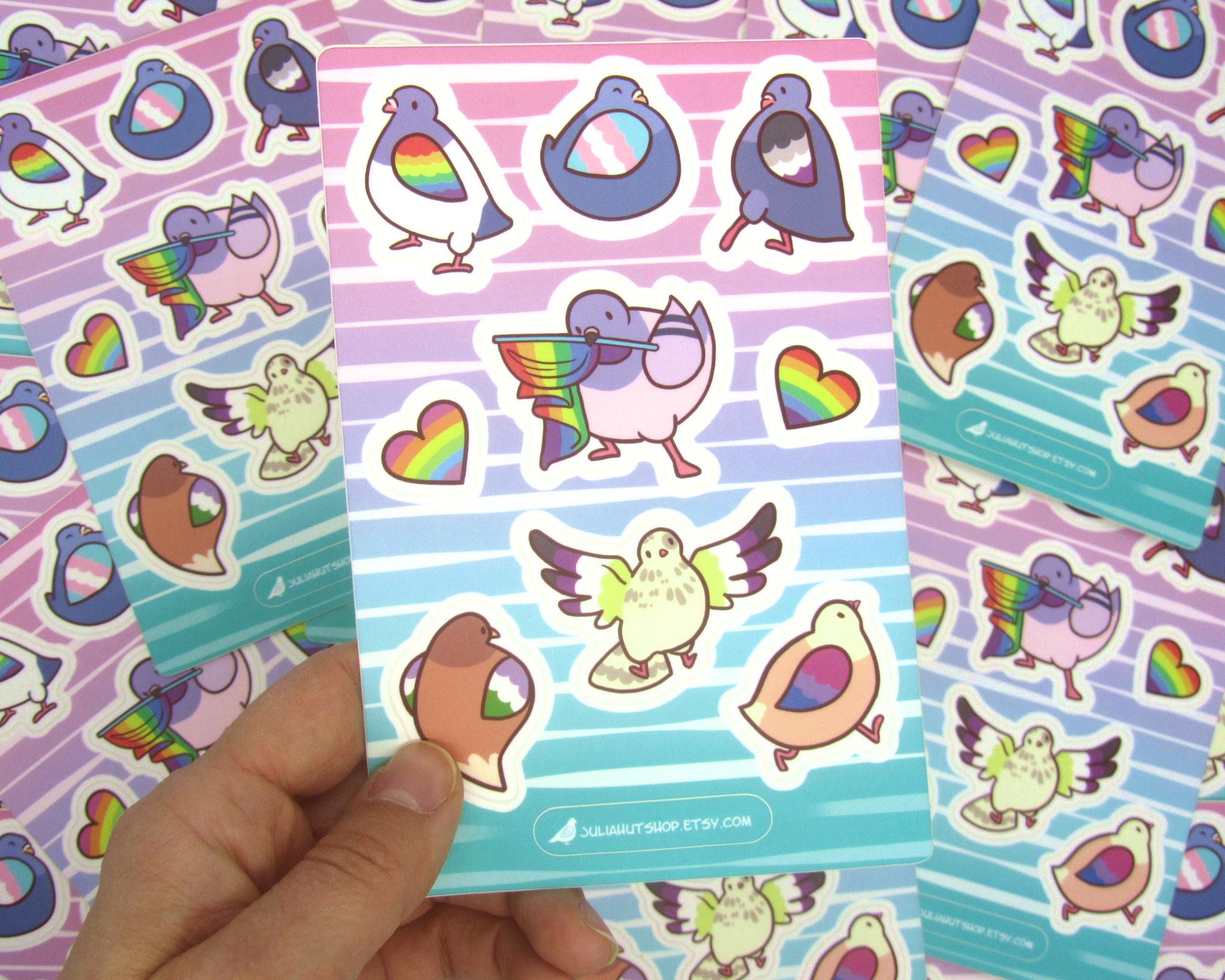 Pride Pigeons Stickers
