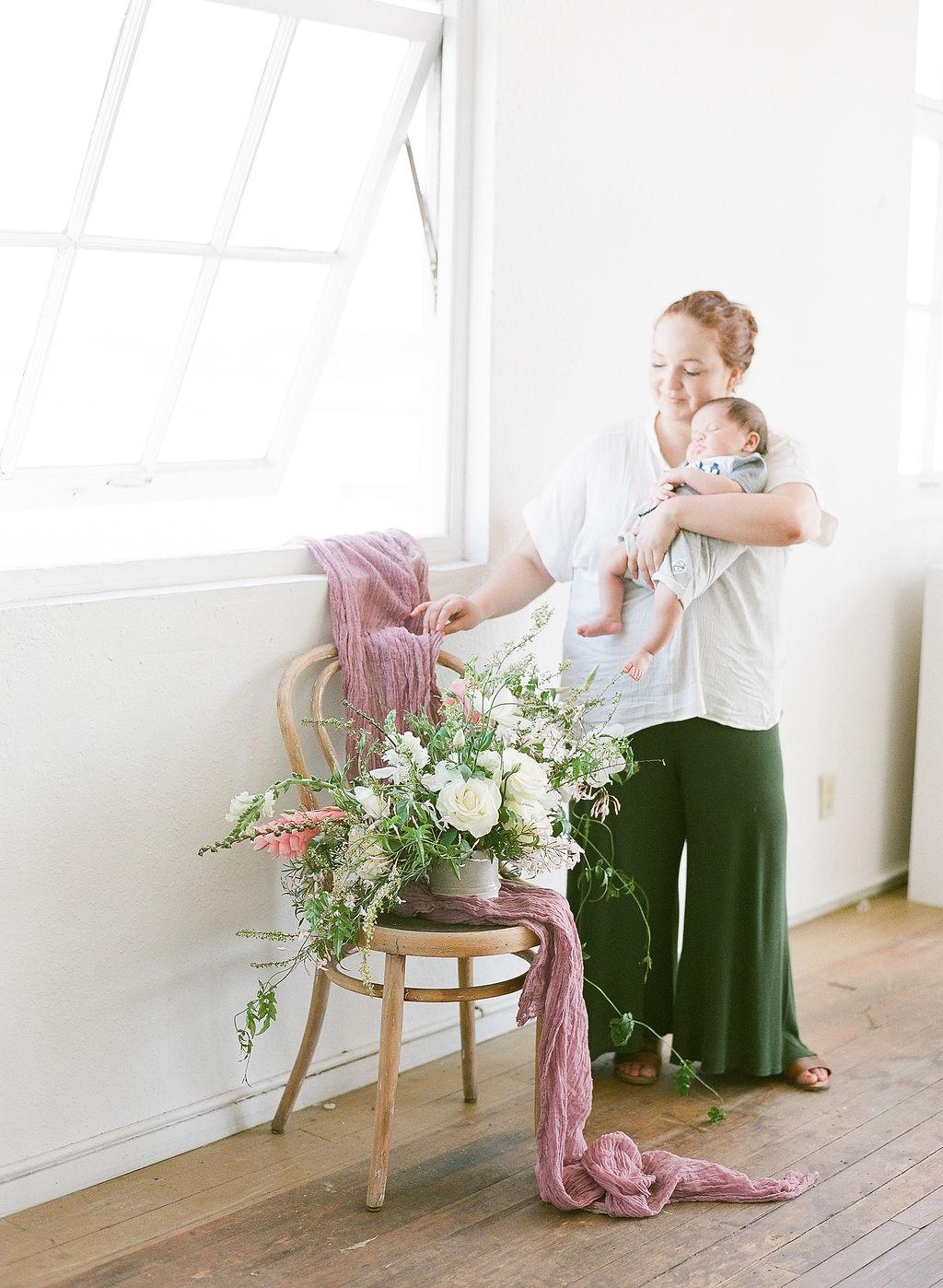 Mom entrepreneur goals: having the best little assistant ever