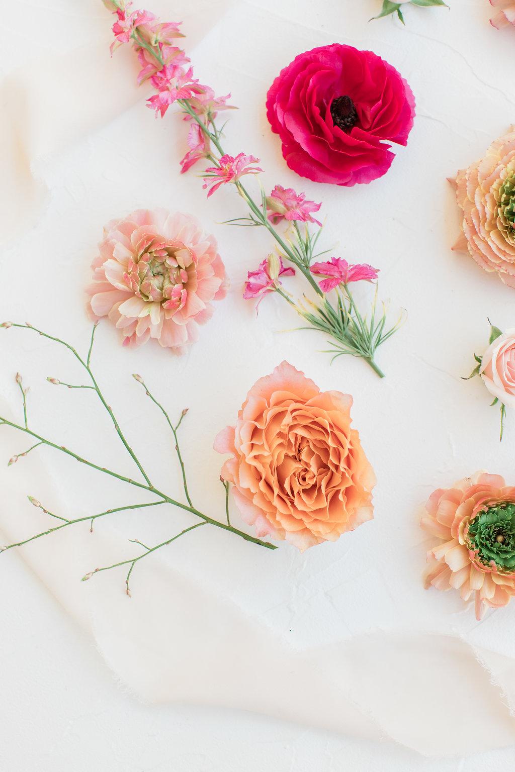 Floral Silk Ribbon aesthetic flatlay for instagram