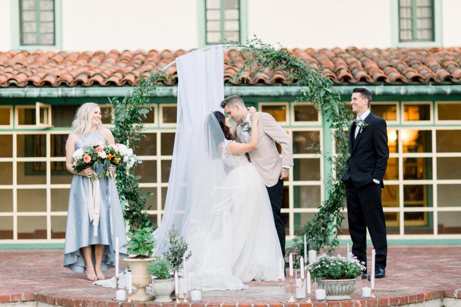 gorgeous wedding installation for wedding reception and group photo idea for wedding photos