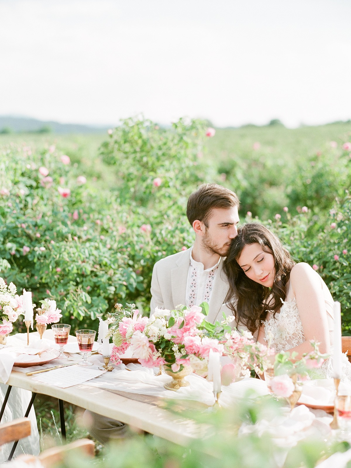 Pretty, pink, and romantic outdoor European wedding for 2019