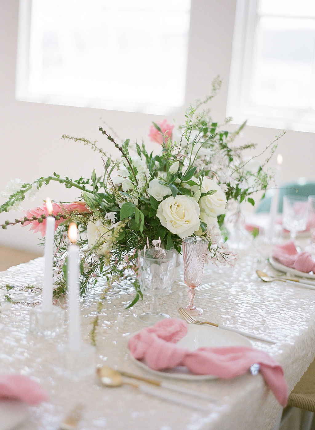 pretty mermaid sequin linens for 2019 wedding