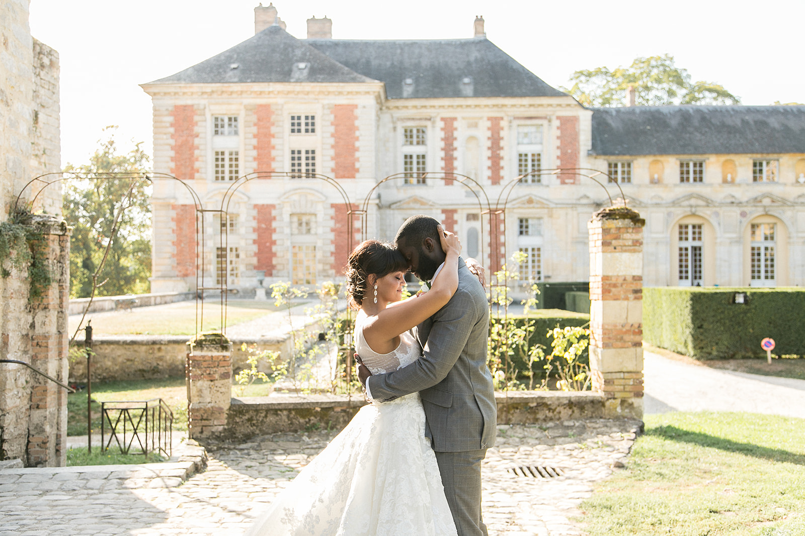 french inspired wedding couple photoshoot and bridal look inspiration