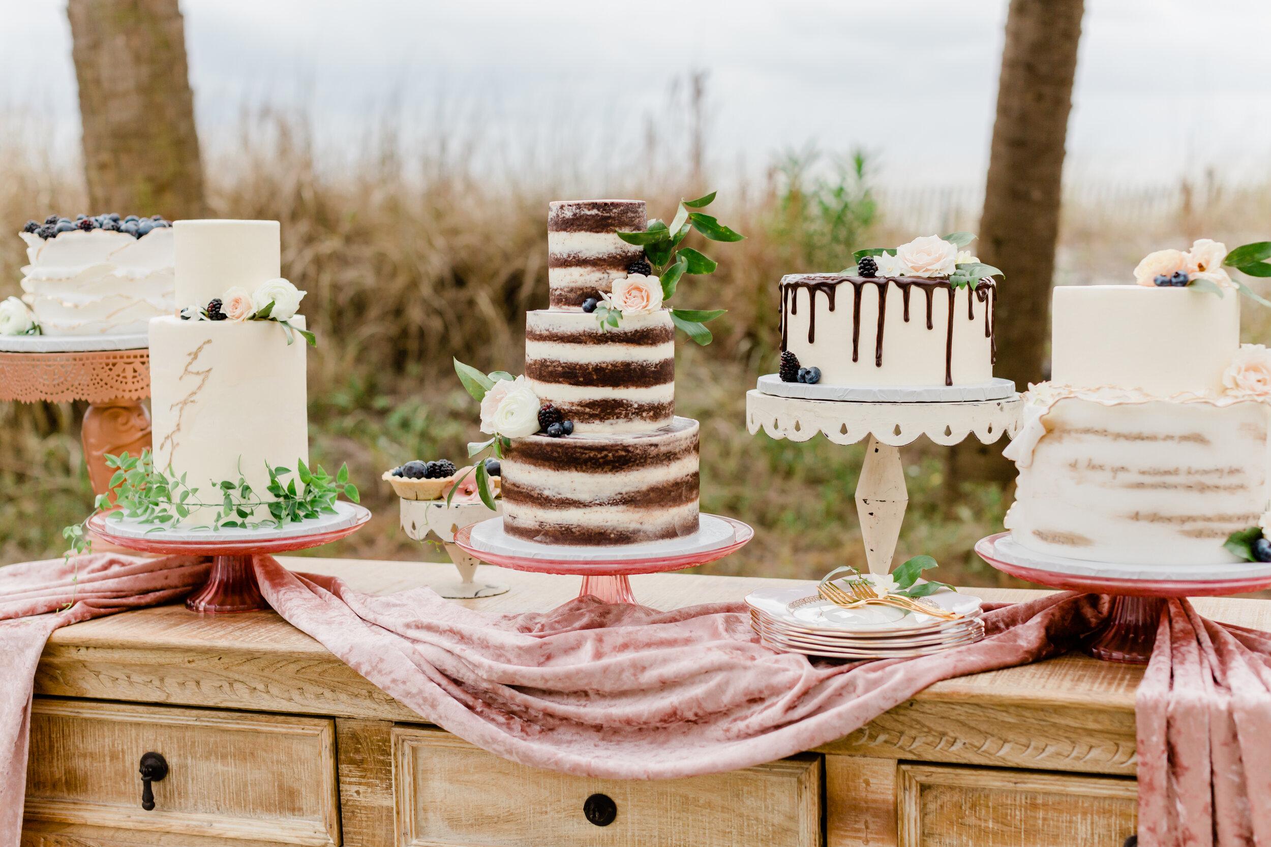 pink wedding cake table inspo for 2019 outdoor garden weddings