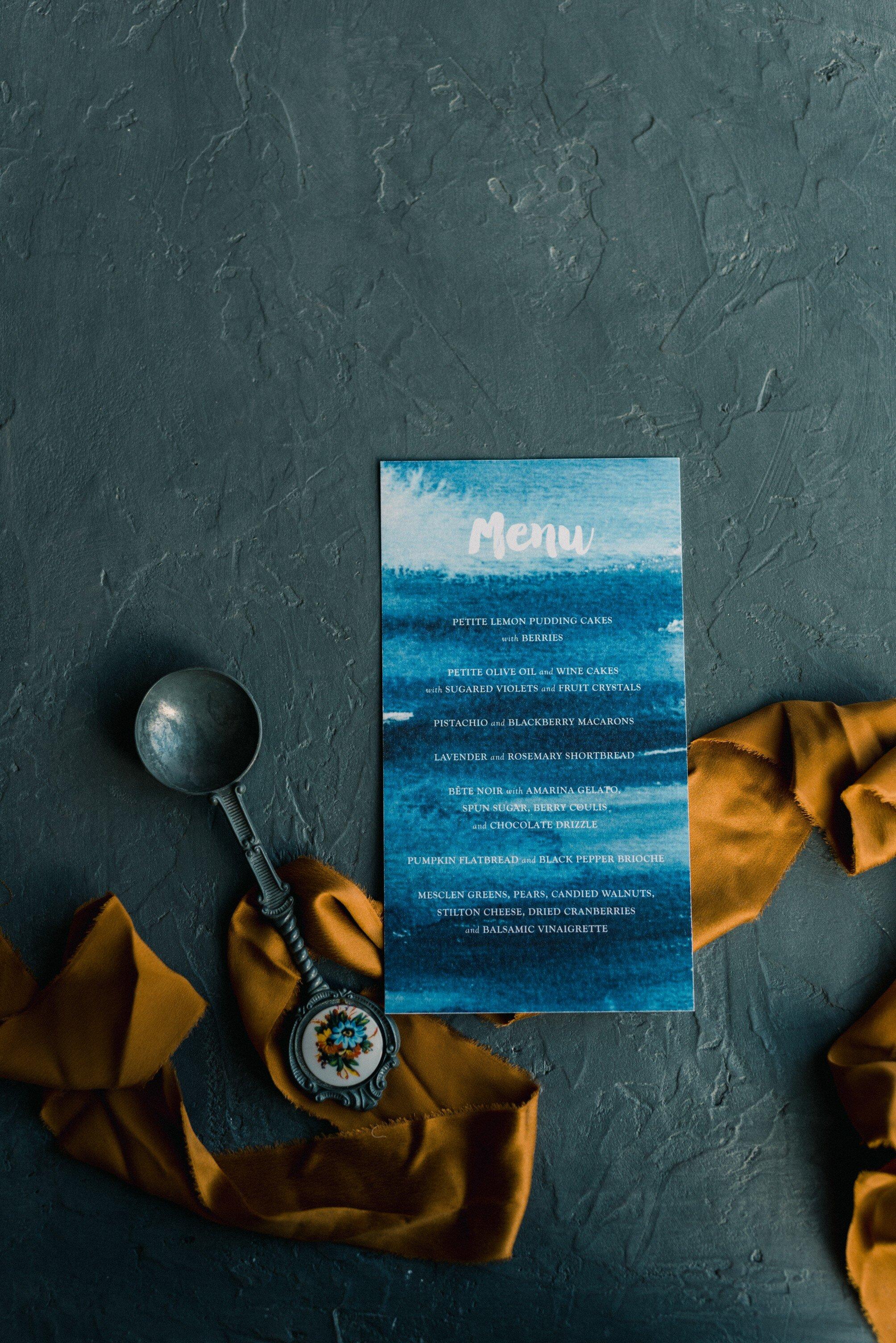 Golden amber velvet shades for electric blue wedding Invitations inspo