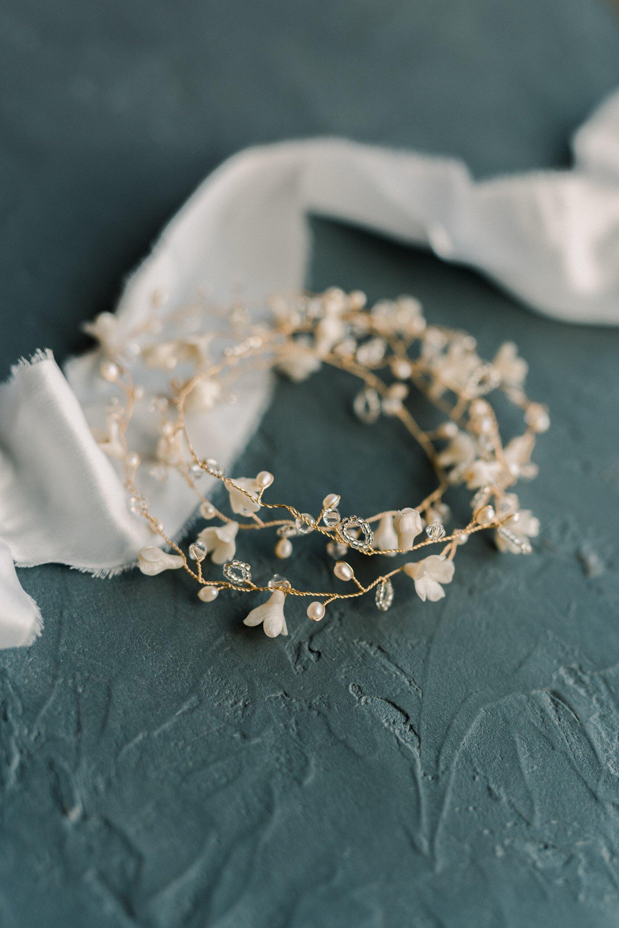 White silk velvet ribbons for pretty flatlays