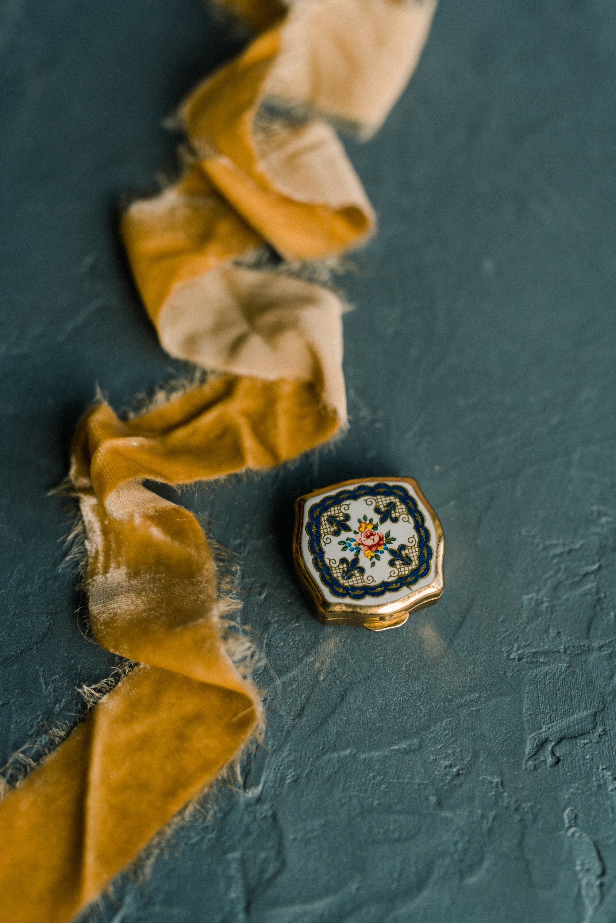 elegant silk velvet ribbons for gorgeous wedding flatlays