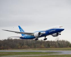 Flight testing for the 787 Dreamliner began in December 2009. The first test flight lasted 3 hours, 6 minutes and marked the beginning of a rigourous test flight program that will last throughout 2010. Image copyright of Boeing.