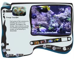Figure 1: The interface of the Interaction Panel developed within the Interactive Aquarium project