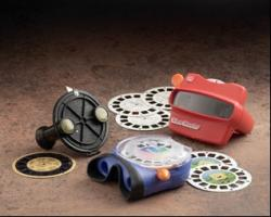 The View-Master is a form of the stereoscope, the first technology to popularize 3D viewing. Image courtesy of fisher-price.com.