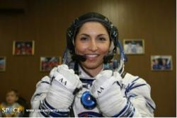 Anousheh Ansari in her space suit during pre-launch training. (Space Adventures)