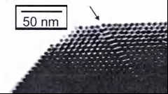 A nanoparticle superlattice from the lab of Dr. Chris Sorensen.
