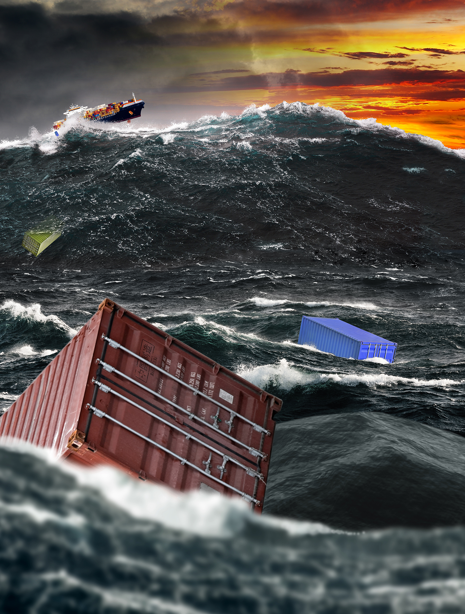 Composite for an advertisement on trade. This was not approved, though. It came across as a bit too ominous.
