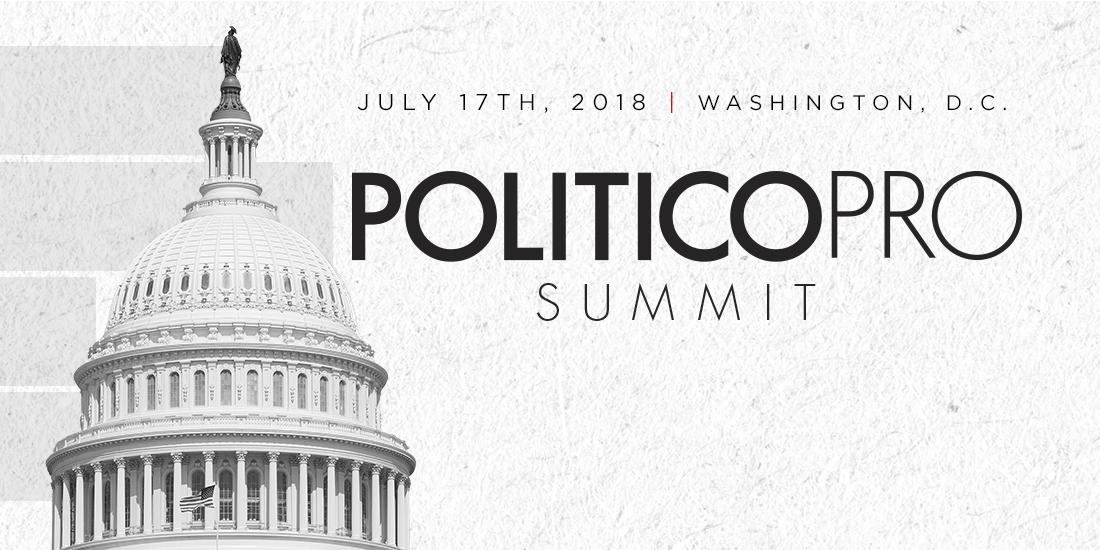 Politico Pro Summit 2018 - Email Invite Graphic